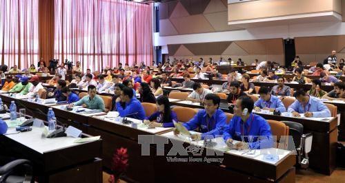 越南出席世界民主青年联盟第十九次大会 hinh anh 1