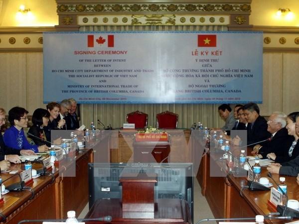 越南胡志明市与加拿大不列颠哥伦比亚省加强贸易投资合作 hinh anh 1