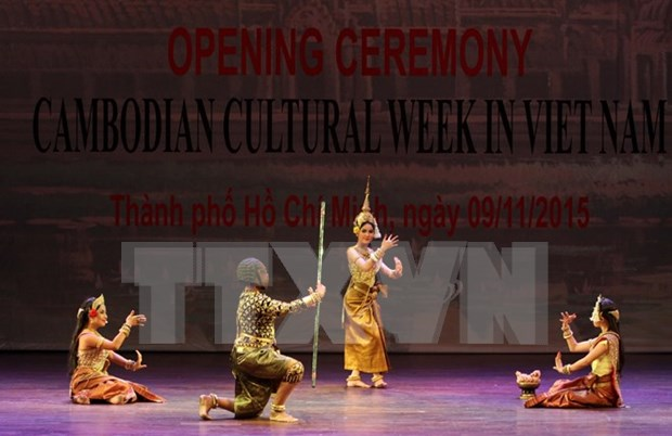 越南柬埔寨文化周在胡志明市开幕 hinh anh 1