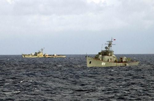 越柬两国海军加强联合巡逻活动 hinh anh 1