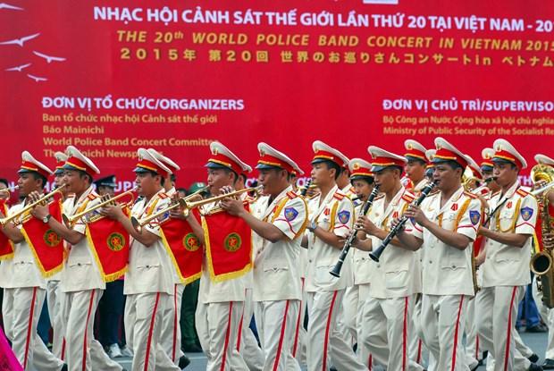 第20届世界警察音乐会在胡志明市拉开帷幕 hinh anh 1