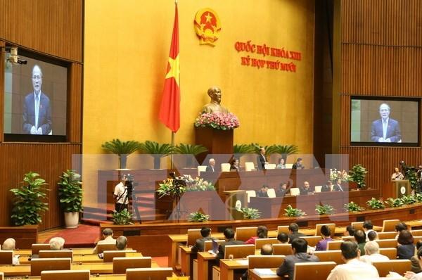 """越南第十三届国会第十次会议进行""""前所未有""""的质询会 hinh anh 1"""