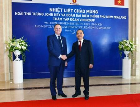 新西兰总理探访越南Vingroup集团 hinh anh 1