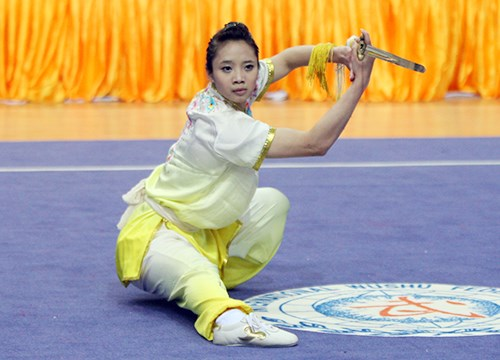 2015年世界武术锦标赛:杨翠薇摘1银1铜 hinh anh 1