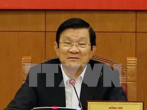 越南国家主席张晋创出席亚太经合组织第二十三次领导人非正式会议 hinh anh 1