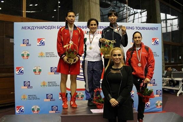 越南女子拳击队在2015年Balkan国际赛夺金 hinh anh 1
