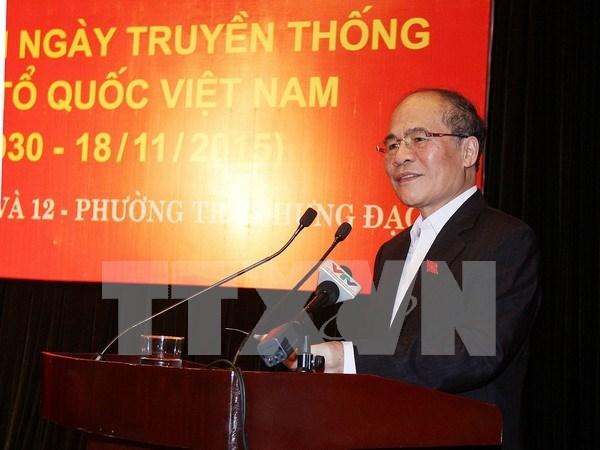 越南国会主席阮生雄出席河内市民族大团结节日活动 hinh anh 1
