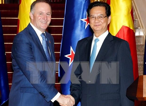 新西兰总理圆满结束对越访问 hinh anh 1