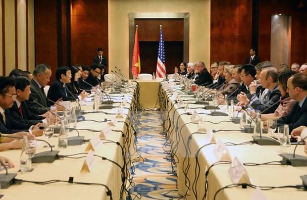 越南国家主席张晋创出席美国企业家座谈会 hinh anh 1