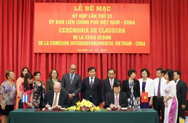 越南与古巴促进多个领域的全面合作关系 hinh anh 1