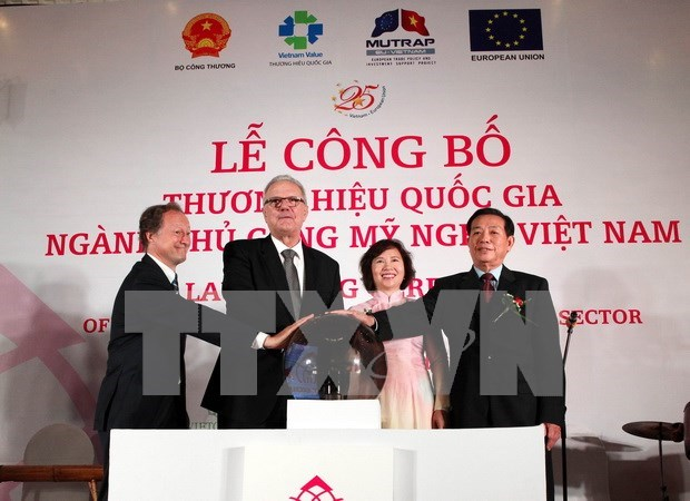 越南公布手工艺品国家商标 hinh anh 1