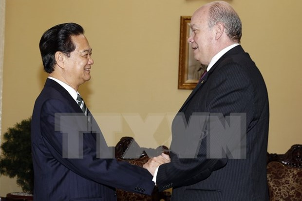 阮晋勇总理会见古巴外贸外资部长罗德里戈•马尔米耶卡•迪亚斯 hinh anh 1