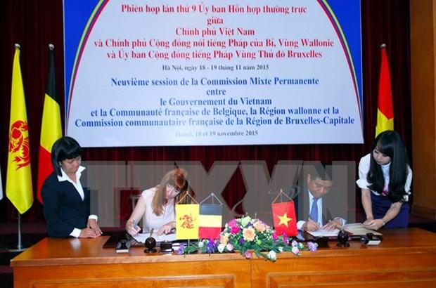 比利时瓦隆-布鲁塞尔大区协助越南开展18个项目 hinh anh 1