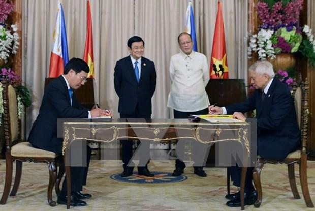 越南和菲律宾发表关于建立战略伙伴关系的联合声明 hinh anh 1