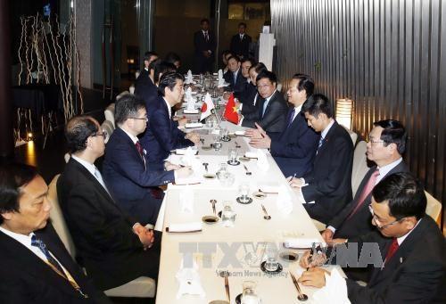 越南政府总理阮晋勇同日本首相安倍晋三举行会晤 hinh anh 2