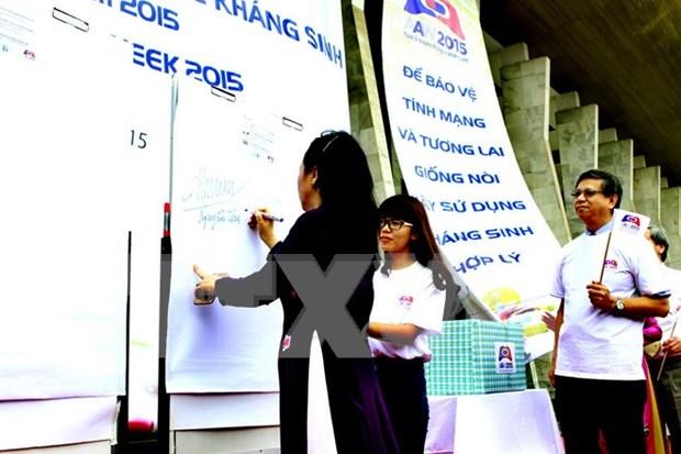 越南举行集会响应抵御抗菌素耐药性宣传周 hinh anh 1