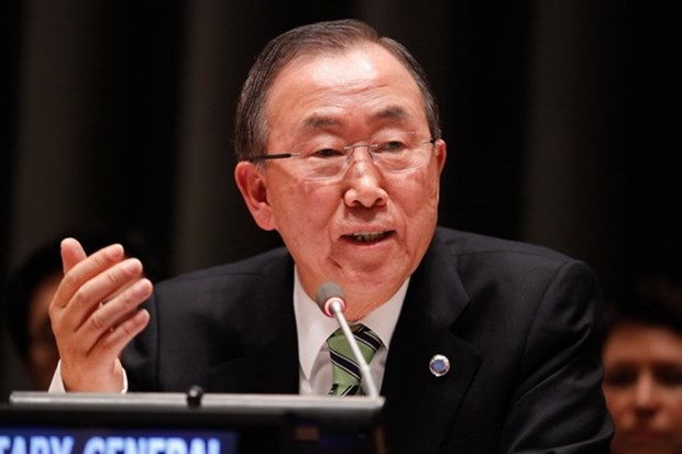 联合国秘书长潘基文呼吁东海争端有关各方恪守国际法 hinh anh 1