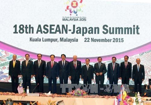 阮晋勇总理出席东盟与日本、东盟与韩国、东盟与联合国领导人峰会 hinh anh 1