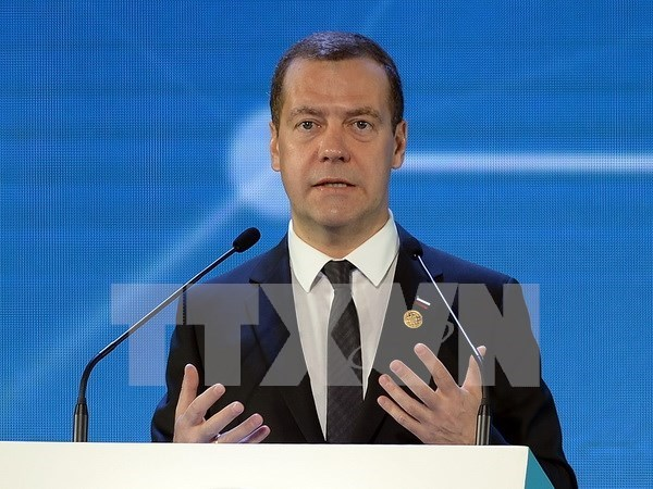 俄罗斯总理梅德韦杰夫对柬埔寨进行访问 hinh anh 1