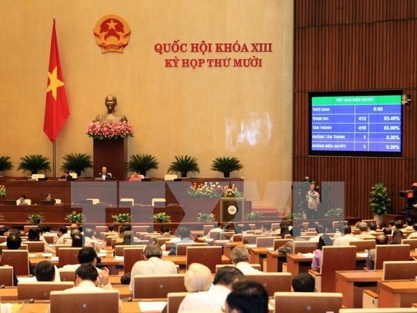 越南第十三届国会第十次会议发表第二十五号公报 hinh anh 1