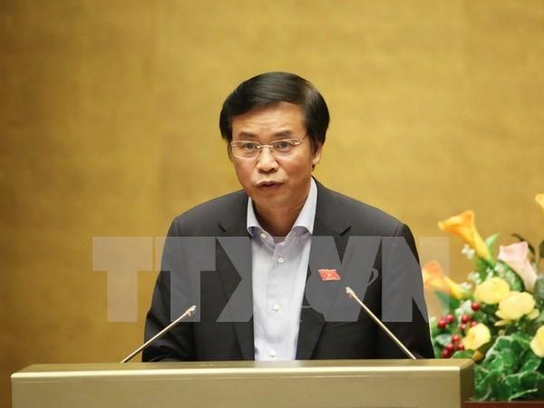 越南第十三届国会第十次会议:批准国家选举委员会21名委员名单 hinh anh 1