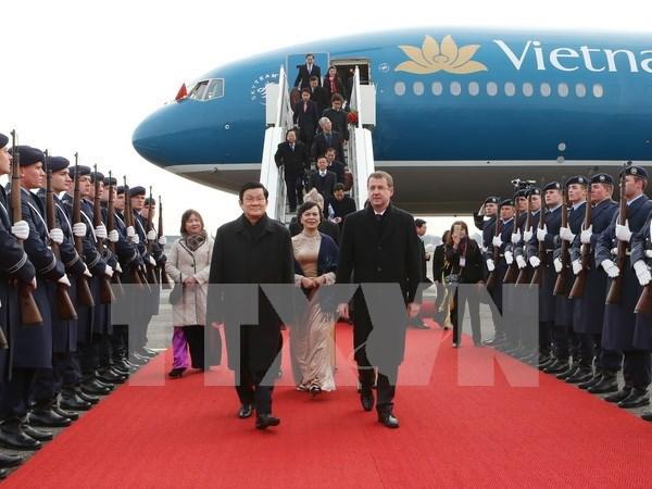 越南国家主席张晋创对德国进行国事访问 hinh anh 1
