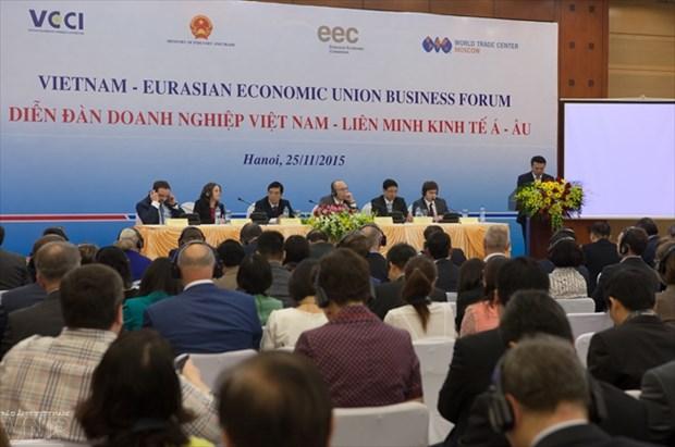 越南-欧亚经济联盟企业论坛在河内举行 hinh anh 1