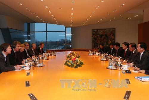 越南国家主席张晋创同德国总理安格拉·默克尔举行会谈 hinh anh 2