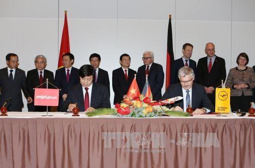 越南国家主席张晋创同德国总理安格拉·默克尔举行会谈 hinh anh 3
