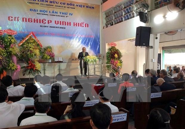 越南基督徒团契教会举行第四次大会 hinh anh 1
