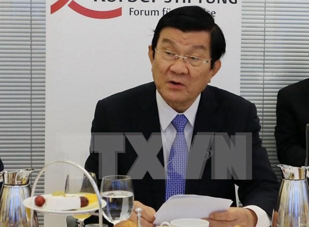 张晋创主席出席越德企业论坛 hinh anh 1