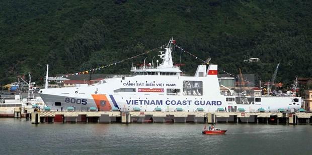 越南建造的8005号海警船成功下水 hinh anh 1