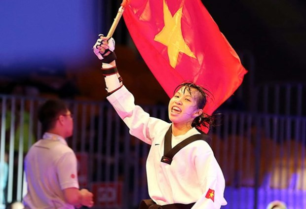 2015年跆拳道国际锦标赛:越南选手张氏金玄夺金 hinh anh 1