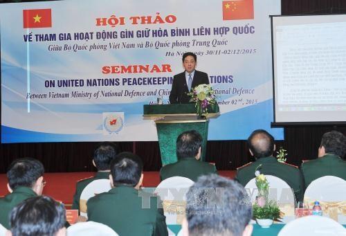 越南与中国分享参加联合国维和行动的经验 hinh anh 1