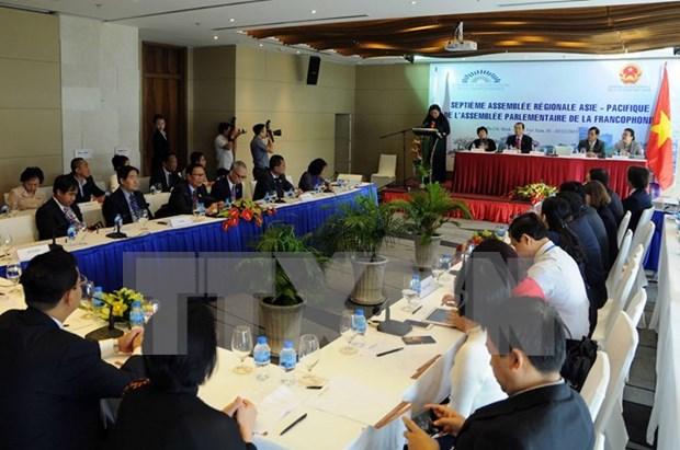 法语国家议会大会亚太地区第七届会议在胡志明市开幕 hinh anh 1