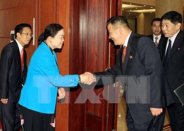 越南与朝鲜加强青年团之间的交流与友好合作关系 hinh anh 1