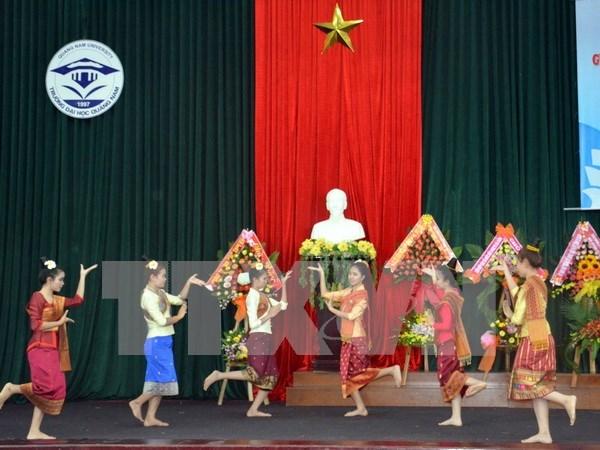 老挝驻越大使馆举行国庆40周年招待会 hinh anh 1