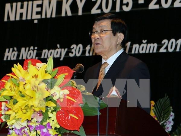 张晋创主席出席越南历史科学协会大会 hinh anh 1