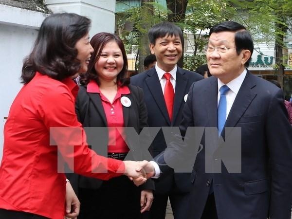 越南国家主席张晋创出席种牛银行项目5周年总结会议 hinh anh 1