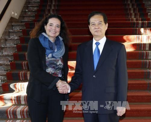 阮晋勇总理会见比利时众议院议长和参议院议长 hinh anh 2
