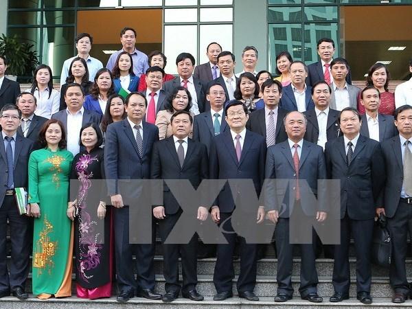 张晋创主席:努力提高越南农民协会的作用 hinh anh 1