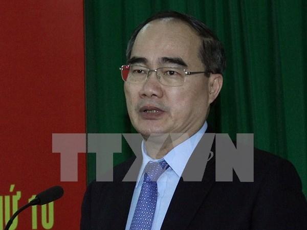 越南祖国阵线中央委员会主席阮善仁会见挪威教会援助社秘书长 hinh anh 1
