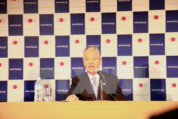 日本经济财政大臣甘利明:越南已选择主动参加制定全球贸易新规则 hinh anh 1