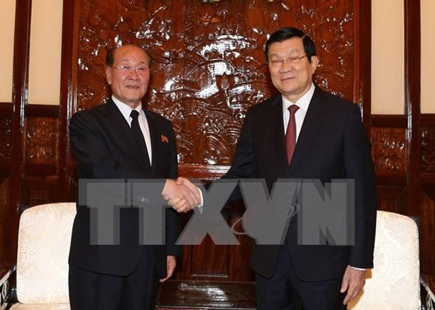 越南国家主席张晋创会见朝鲜最高检察所所长 hinh anh 1