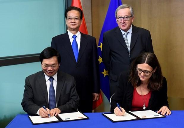 《越南与欧盟自贸协定》谈判进程全面结束 hinh anh 1