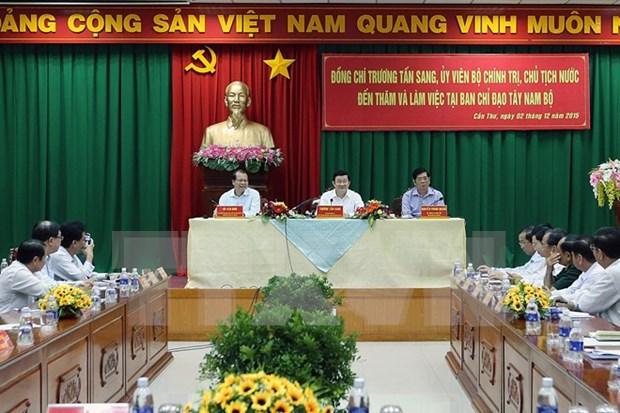 张晋创主席:着力提高九龙江三角洲地区农业质量效益 hinh anh 1