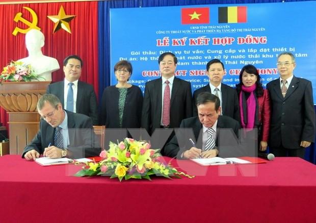 比利时协助越南太原省兴建排水及污水处理系统 hinh anh 1