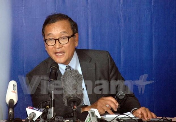 柬埔寨法院以侮辱国会主席韩桑林罪向桑兰西发传票 hinh anh 1