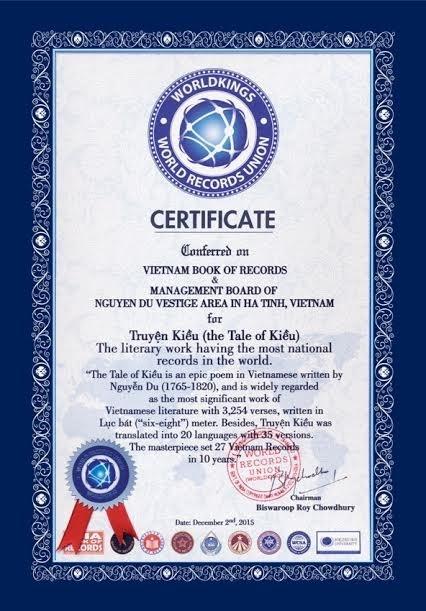 越南著作《翘传》创世界纪录 hinh anh 2