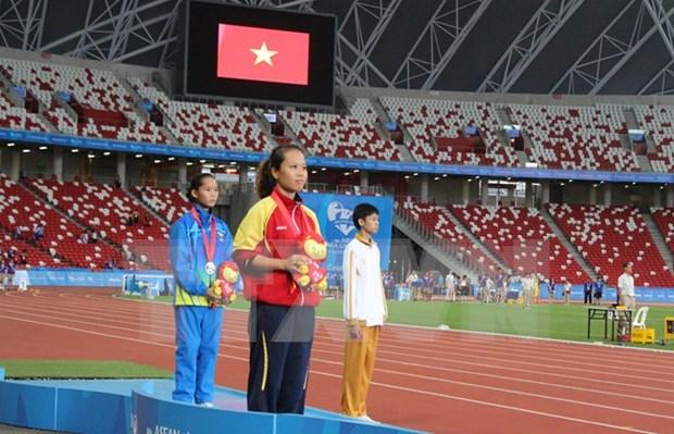 第八届东南亚残运会首个比赛日:越南体育代表队夺得九枚金牌 hinh anh 1